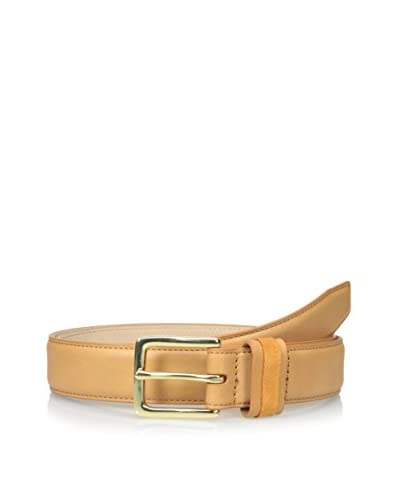 Isaac Mizrahi Men's Leather Belt with Pop Suede Keeper