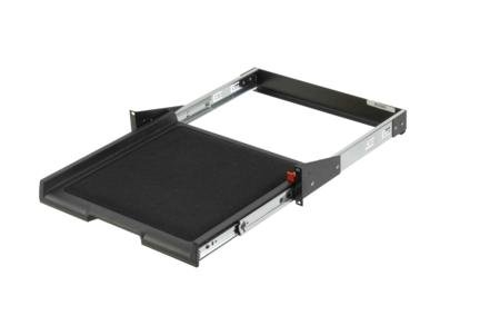 2U Rackmount Pull-Out Shelf With Headphones