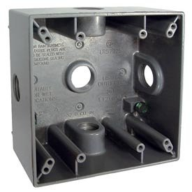 Hubbell Bell 5342-0 Two Gang 5-3/4-Inch Outlets Weatherproof Box, Gray
