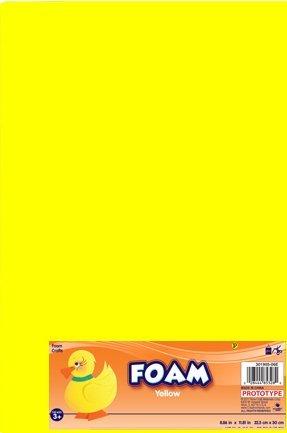 Creative Hands by Fibre-Craft Foam Sheet, 8.5 x 11-inch, Yellow, 12-Pack