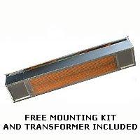 InfraRed Hanging Heater   Sunpak S34 Aluminized Black Finish Natural Gas  Hanging Heater