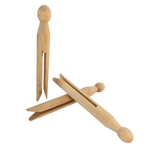Hangerworld 96 mollette in legno per bucato ed hobbistica for Hobbistica legno