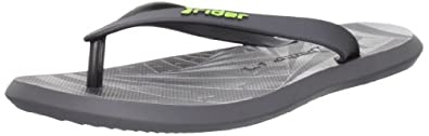 Rider Men's R1 Energy Thong Sandal,Grey/Black,9 M US
