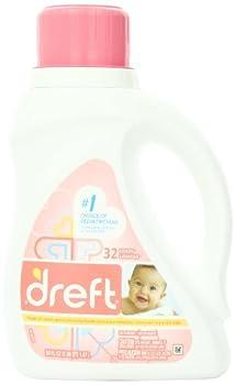 Dreft Baby Liquid Laundry Detergent 32 Loads 50 Fl Oz  (Pack of 2)
