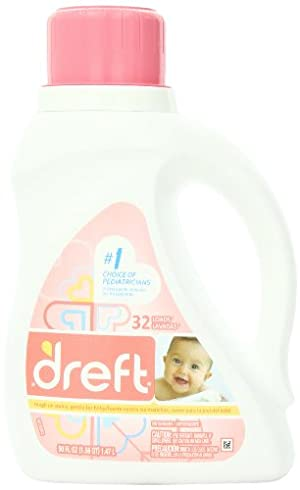 Dreft Stage 1: Newborn Liquid Laundry Detergent, 50 oz, 32 loads