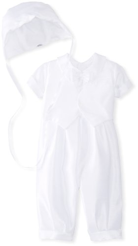 Jayne Copeland Baby Boys Christening Shantung Vest Bow Tie, White, 12 Months