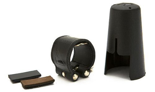 Vandoren - ligature en cuir et couvre-bec de clarinette sib - lc21p
