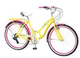 a459782ed60 26 Schwinn Clairmont Women s Cruiser Bike Yellow Pink ...