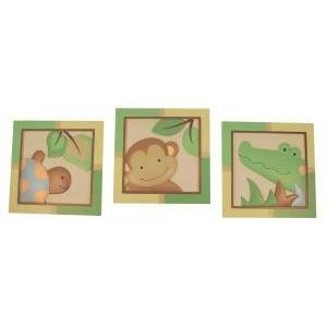 Lambs & Ivy Papagayo Wall Decor, Green