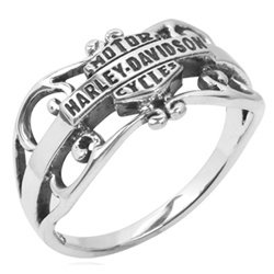 Harley Davidson Gipsy filigree Sterling Ring HDR0218 by MOD Size 7