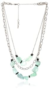 "Kenneth Cole New York ""Seascape"" Semiprecious Stone Multi-Row Necklace, 20"""
