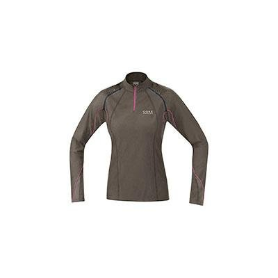 6e561f3fe0f17 Gore Women s X-Running Zip Lady Long Shirt EarthFuchsia Small (   ...