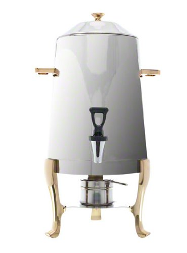 Update International CU-30GD Stainless Steel Coffee Urn with Gold Accent, 3-Gallon