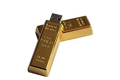 Tomax Goldbarren aus Metall in Geschenkbox als USB Stick in 8/16 oder 32 GB USB Speicherstick Flash Drive