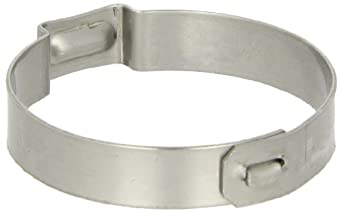 Oetiker 155 Series Stainless Steel Hose Clamp with Mechanical Interlock, One Ear