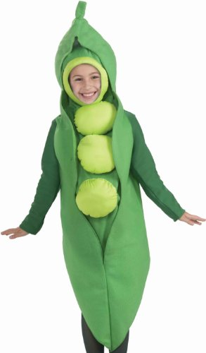 Fruits and Veggies Collection Peas in a Pod Child Costume, Large