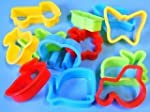 Plastic dough cutters, set of 12