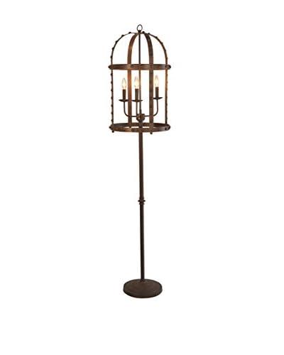 CDI Furniture Rustic Rivet Floor Lamp, Rust