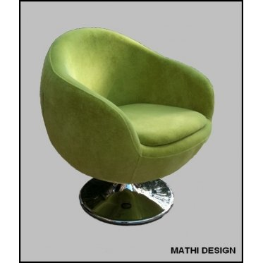 Fauteuil contemporain rotatif Ball