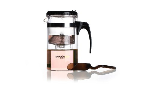 Over Cup Infuser with Glass Teapot – Perfect Tea Brewing System for Loose Leaf Teas (33.8oz/1000ml-T200)