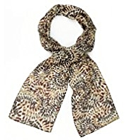 Classic Lightweight Pure Silk Paint Brush Print Scarf