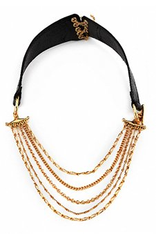 House of Harlow 1960 Chain Leather Corset Necklace