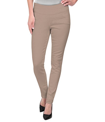 Super Comfy Stretch Pull On Millenium Pants KP44972 TAUPE 2X