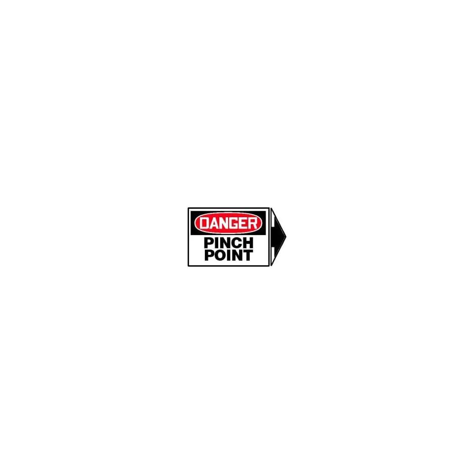 DANGER Labels PINCH POINT (+ ARROW) Adhesive Vinyl   5 pack 3 1/2 x 5 + arrow