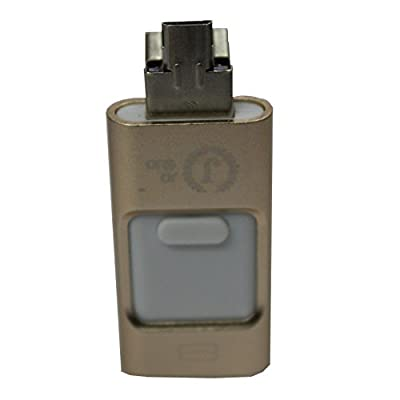 Jo Jo 8 Pin U Disk USB Flash Drive i-Flash Extend Memory For iOS Apple iPhone ipad ipod 8GB Golden
