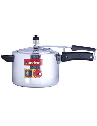 Tandem-Aluminium-5-L-Pressure-Cooker-(Induction-Base,-Inner-Lid)