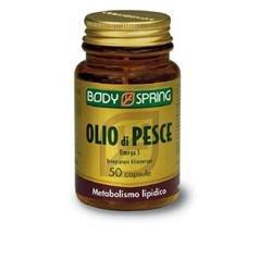 Body Spring Omega 3 Integratore Alimentare per il Colesterolo - 50 Capsule