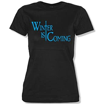 WINTER IS COMING - Women T-Shirt black / blue size XS
