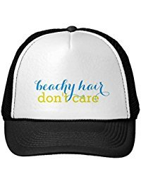 Funny Beachy Hair Don'T Care Women'S Trucker Hat