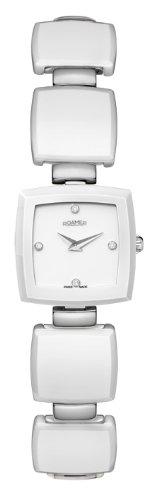 Roamer 672953 91 29 60 - Reloj analógico de cuarzo para mujer, correa de acero inoxidable color blanco