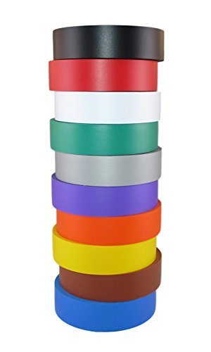 tradegear-assorted-rainbow-general-purpose-electrical-tape-7-to-80-degree-c-60-length-x-3-4-width-ra