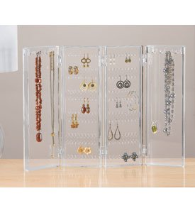 Acrylic Earring & Necklace Keeper Jewelry Screen