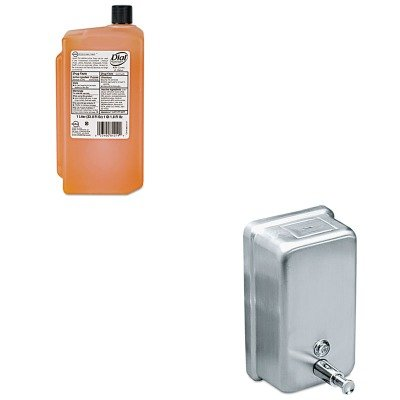 KITDPR84019IMP4040 - Value Kit - Dial Gold Antimicrobial Soap (DPR84019) and Impact Products 4040 Vertical Metal Soap Dispenser 40 Ounces (IMP4040)