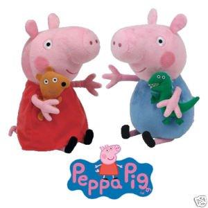 Peppa Pig y George - peluche 15cm