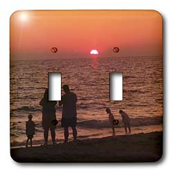 Florene Sunset - Vacation - Light Switch Covers - double toggle switch