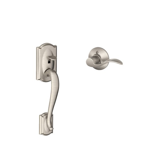 Camelot Front Entry Handle Accent Left-Handed Interior Lever (Satin Nickel) FE285 CAM 619 ACC LH