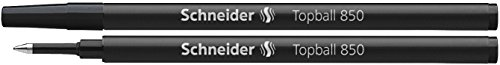 Schneider Topball 850 Recharge pour stylo roller 0,5 mm/noir Lot de 10
