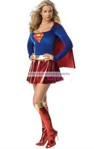 Ladies Supergirl Costume Superwoman Costume