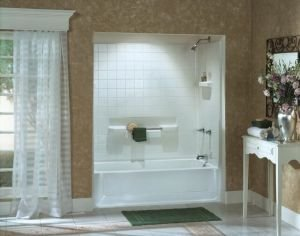 Attractive Bathtubs Showers Sterling 61040120 47 Almond 6104