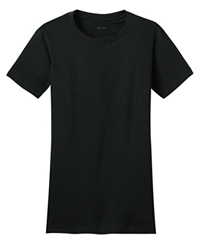 [Joe's USA(tm) - Ladies 4.3-ounce, 100% soft spun cotton T-Shirts-Black-M] (Daria Costume)