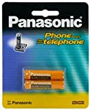 Panasonic Original Ni-MH Rechargeable Battery for the Panasonic KX-TG6421ES - KX-TG6422ES - KX-TG6423ES & KX-TG6424ES DECT Digital Cordless Phone Set Answer Machine Silver