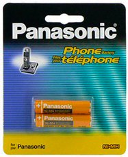 Panasonic Original Ni-MH Rechargeable Batteries (2 Packs of 2) for the Panasonic KX-TGA659T - KX-TGA660B - KX-TG6632B & KX-TG6633B DECT 6.0 PLUS Digital Cordless Phone Answering System Black телефон ip panasonic kx nt553rub черный