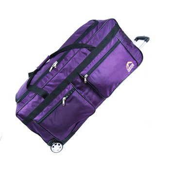 18, 20, 24, 28 , 30 or 34 inch Wheeled Holdall Trolley Travel Bag Luggage on Wheels Black, Navy, Purple, Olive or Pink (30 inch, Purple)