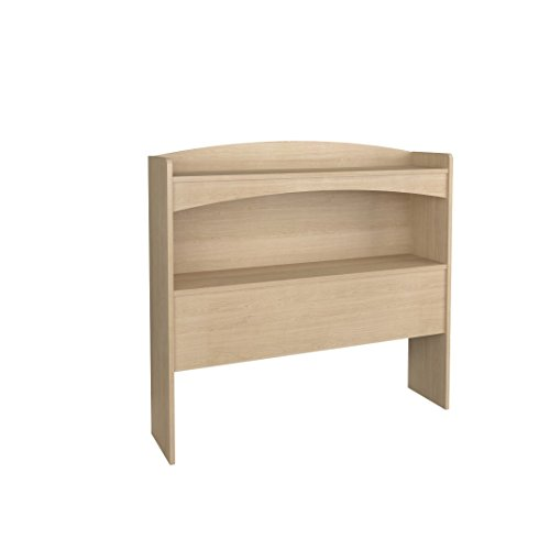 Nexera 5614 Alegria Bookcase Headboard, Twin, Natural Maple