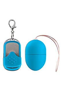 Shots Toys 10 Speed Blue Vibrating Egg Small Size With Remote Control