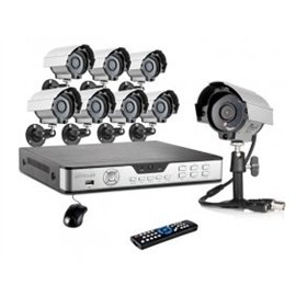 Zmodo Surveillance Kdb8-Carcz8Zn 8Channel H.264 D1 Dvr 1/4Inch 8X600Tvl 1/4Inch Cmos Security Cameras Retail